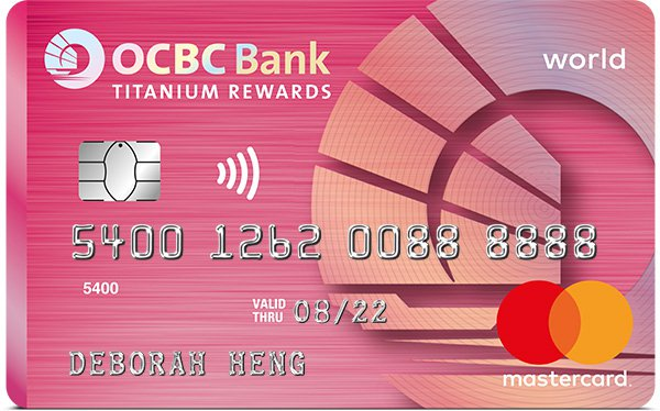 OCBC Titanium Rewards Card (Pink)