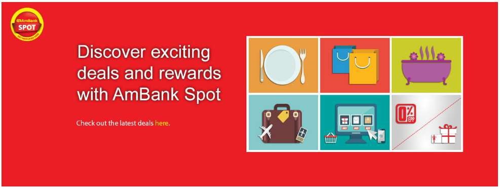 Discover exciting deals and rewards with AmBank Spot