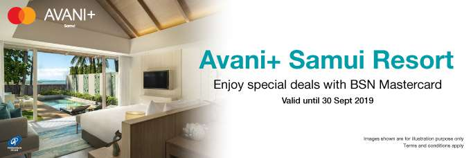 Special deals  at Avani+ Smui with BSN Mastercard