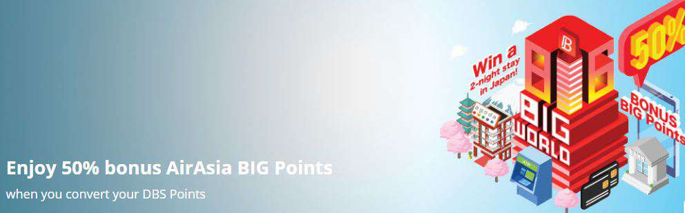 Enjoy 50% bonus AirAsia BIG Points
