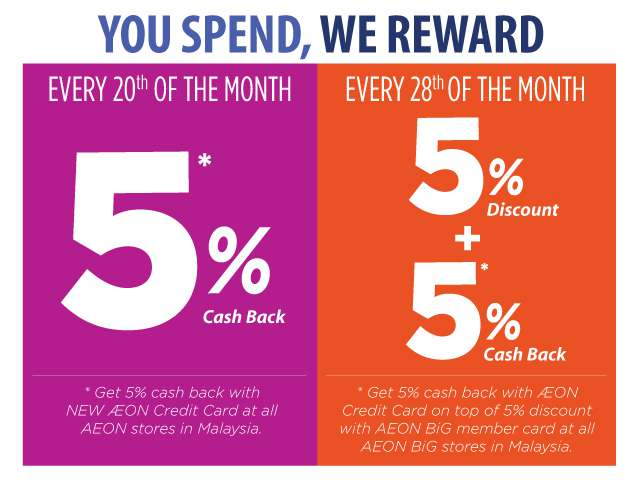 You Spend, We Reward With AEON Credit