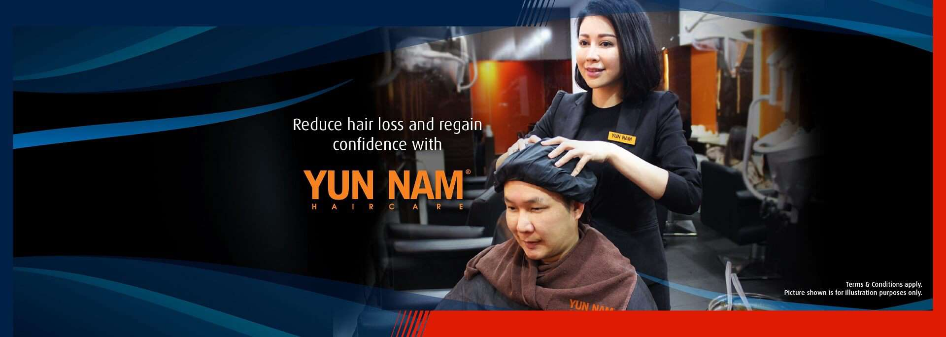 Get offers for hair treatment at Yun Nam using your HLB Credit or Debit Cards