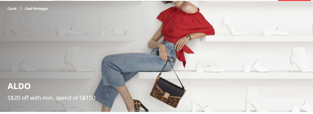 S$20 off with min. spend of S$150 at ALDO