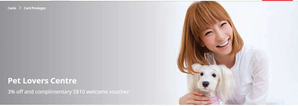 3% off and complimentary S$10 welcome voucher from Pet Lovers Centre