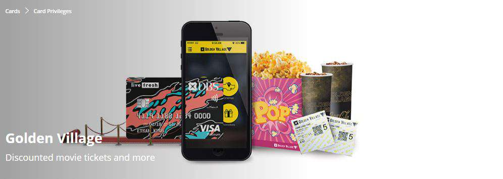 Discounted movie tickets and more from Golden Village
