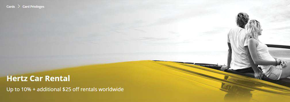 Up to 10% + additional $25 off rentals worldwide at Hertz Car Rental