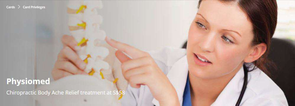 Chiropractic Body Ache Relief treatment at S$58 at Physiomed