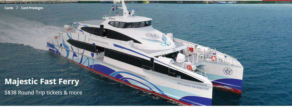 S$38 Round Trip tickets with Majestic Fast Ferry