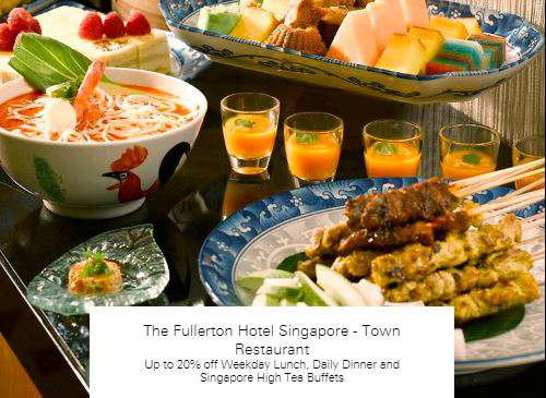 Up to 20% off at  The Fullerton Hotel Singapore - Town Restaurant