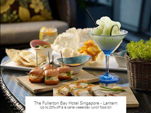 Up to 20% off à la carte at The Fullerton Bay Hotel Singapore - Lantern