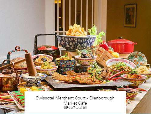 18% off total bill at Swissotel Merchant Court - Ellenborough Market Café