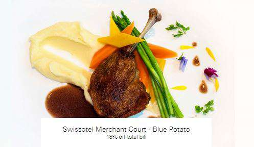 18% off total bill at Swissotel Merchant Court - Blue Potato