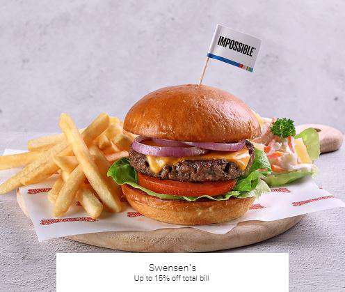 Up to 15% off total bill at Swensen's