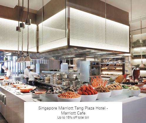 Up to 15% off total bill at Singapore Marriott Tang Plaza Hotel - Marriott Cafe