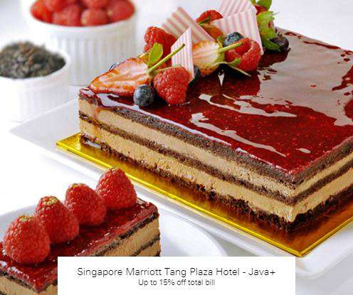 Up to 15% off total bill at Singapore Marriott Tang Plaza Hotel - Java+