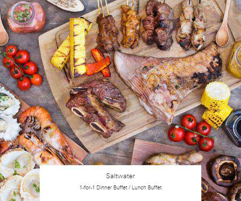 1-for-1 Dinner Buffet / Lunch Buffet at Saltwater