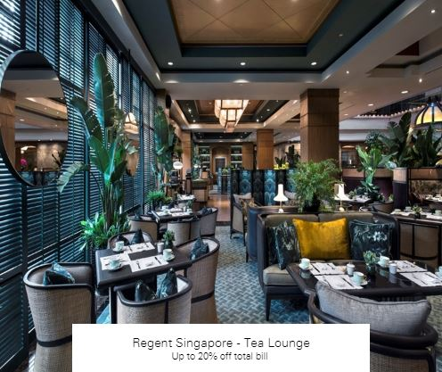 Up to 20% off total bill at Regent Singapore - Tea Lounge