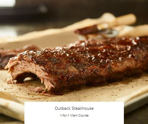 1-for-1 Main Course at Outback Steakhouse