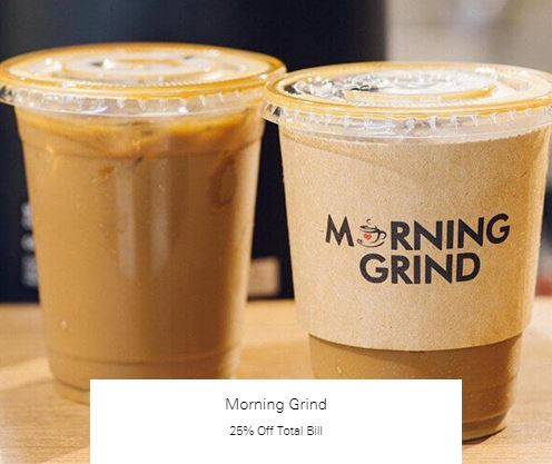 25% Off Total Bill at Morning Grind