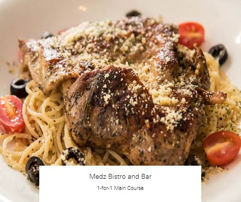 1-for-1 Main Course at Medz Bistro and Bar