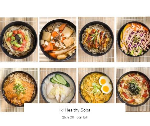 25% Off Total Bill at Iki Healthy Soba