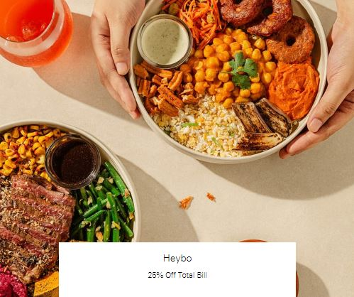 25% Off Total Bill at Heybo