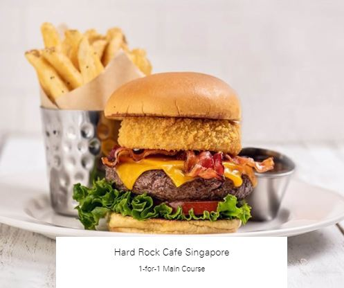 1-for-1 Main Course at Hard Rock Cafe Singapore