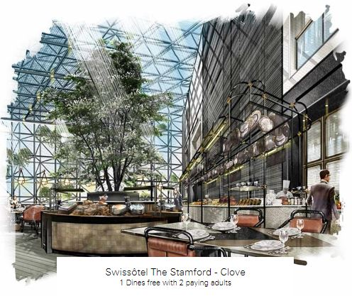 1 Dines free with 2 paying adults at Swissôtel The Stamford - Clove