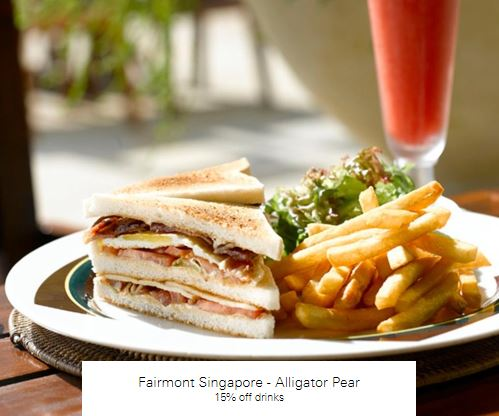 15% off drinks at Fairmont Singapore - Alligator Pear