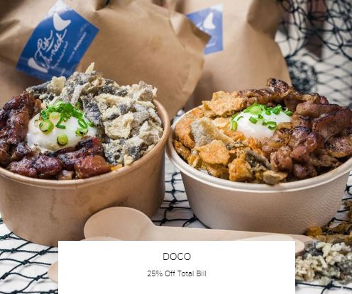 25% Off Total Bill at DOCO