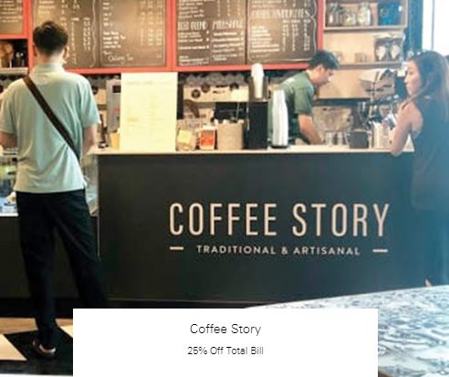25% Off Total Bill at Coffee Story