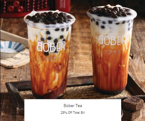 25% Off Total Bill at Bober Tea