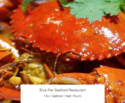 1-for-1 Seafood / Meat / Poultry at Blue Pier Seafood Restaurant