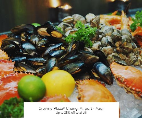 Up to 25% off total bill at Crowne Plaza® Changi Airport - Azur