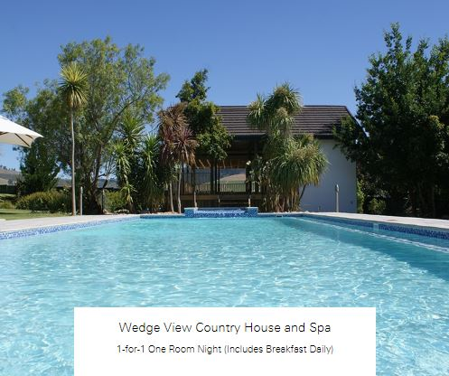 1-for-1 One Room Night (Includes Breakfast Daily) at Wedge View Country House and Spa