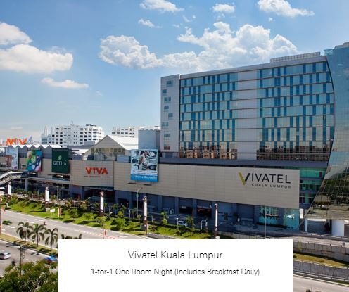 1-for-1 One Room Night (Includes Breakfast Daily) at Vivatel Kuala Lumpur