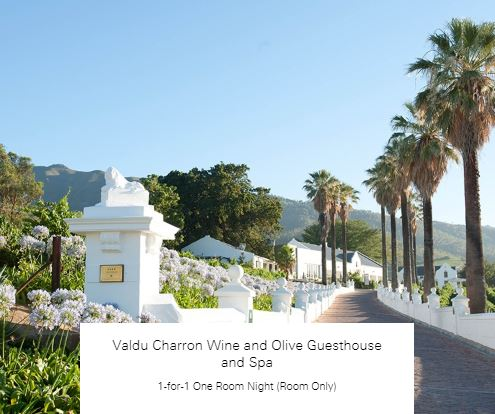 1-for-1 One Room Night (Room Only) at Valdu Charron Wine and Olive Guesthouse and Spa