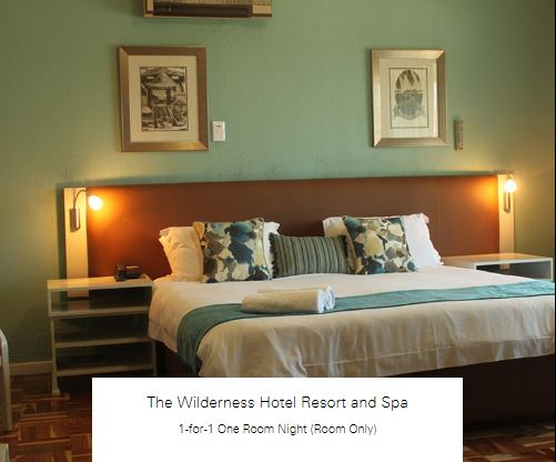 1-for-1 One Room Night (Room Only) at The Wilderness Hotel Resort and Spa