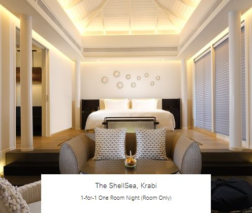 1-for-1 One Room Night (Room Only) at The ShellSea, Krabi