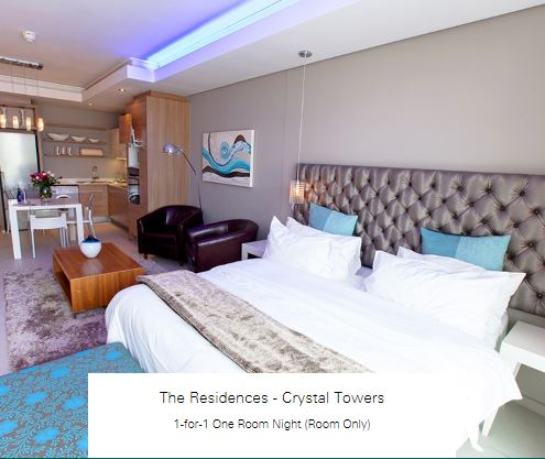 1-for-1 One Room Night (Room Only) at The Residences - Crystal Towers