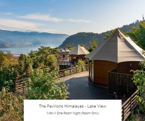 1-for-1 One Room Night (Room Only) at The Pavilions Himalayas - Lake View