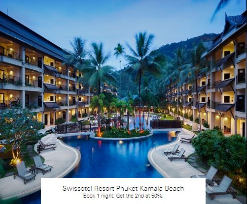 Book 1 night, Get the 2nd at 50%. at Swissotel Resort Phuket Kamala Beach