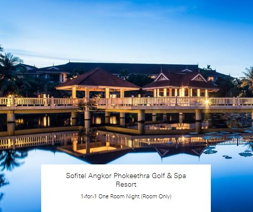 1-for-1 One Room Night (Room Only) at Sofitel Angkor Phokeethra Golf & Spa Resort