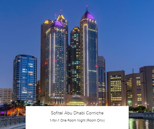 1-for-1 One Room Night (Room Only) at Sofitel Abu Dhabi Corniche