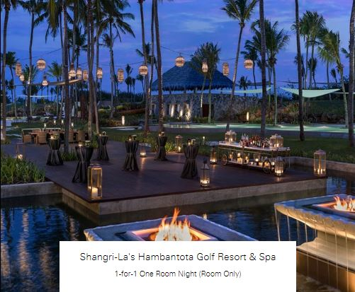 1-for-1 One Room Night (Room Only) at Shangri-La's Hambantota Golf Resort & Spa