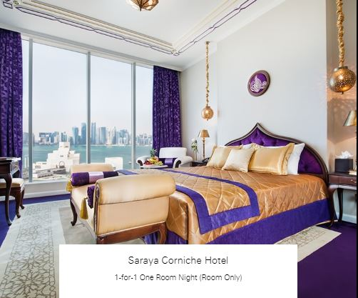 1-for-1 One Room Night (Room Only) at Saraya Corniche Hotel