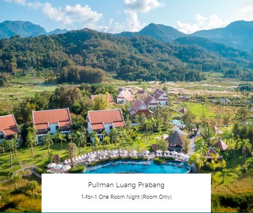 1-for-1 One Room Night (Room Only) at Pullman Luang Prabang