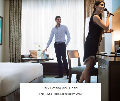 1-for-1 One Room Night (Room Only) at Park Rotana Abu Dhabi