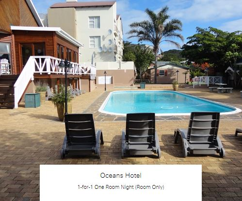1-for-1 One Room Night (Room Only) at Oceans Hotel