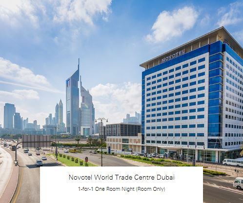 1-for-1 One Room Night (Room Only) at Novotel World Trade Centre Dubai